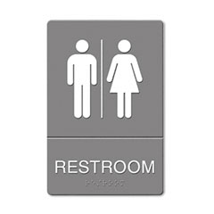 Restroom Sign Men and Womens