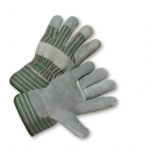 Leather Palm Glove Green/Pink Stripe