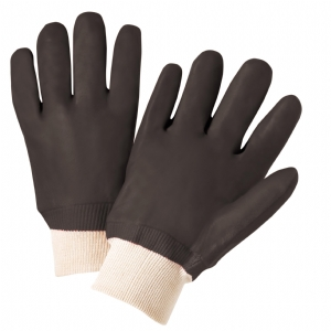 PVC 12 inch Rough Grip Jersey Lined Glove