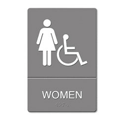 Restroom Sign Women Wheelchair Accessible