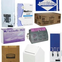 Sanitary Napkins, Tampons, Vending Dispensers, & Sanitary Napkin Disposal