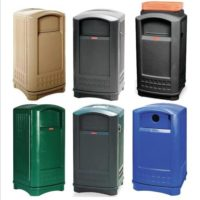 Plaza® Trash Containers